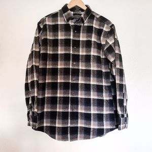 Pendleton Mason Black and Brown Cotton Flannel